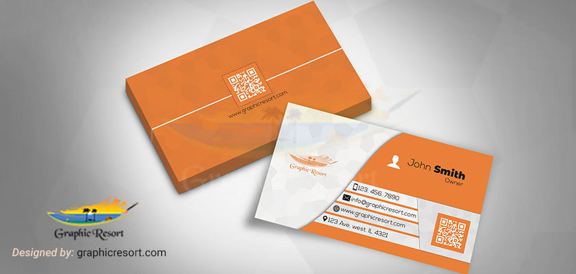 Clean & Simple Two Side Business Card Free PSD Templates 840 by 400 preview