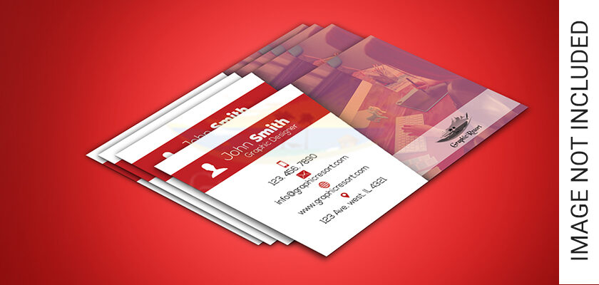 Corporate Business Card Free PSD Template 840 by 400 preview