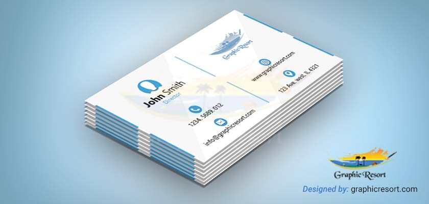 Elegant & Stylish Business Card PSD Template 840 by 400 preview
