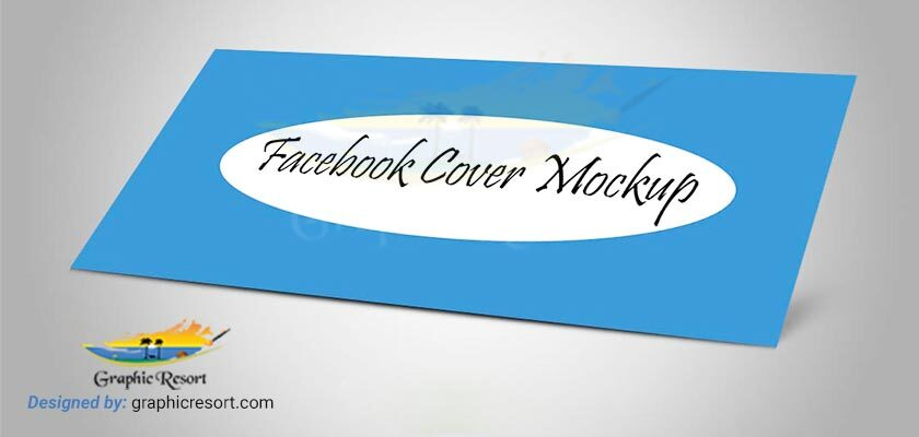 Facebook cover mockup for your portfolio Free PSD 840-by-400-preview