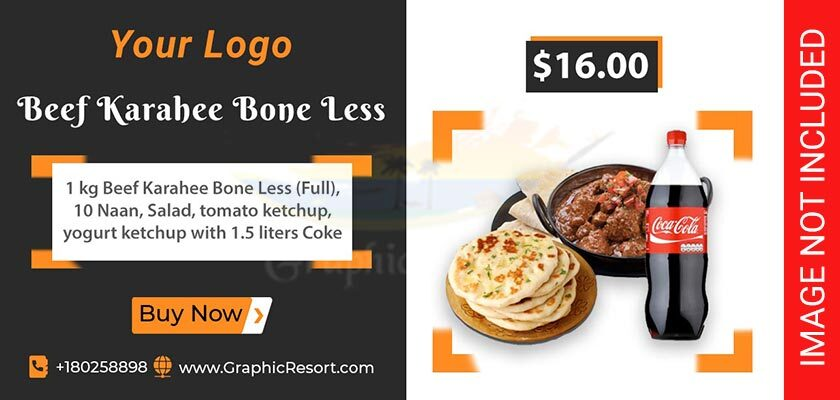 Food Deal Post Banner Design Free PSD Template