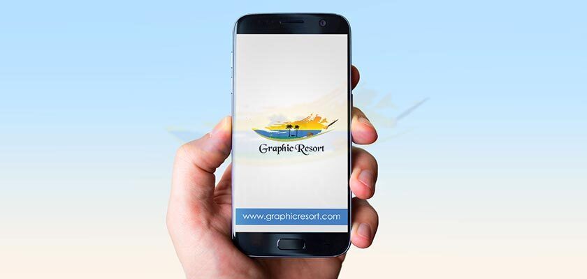 Hand Holding Smartphone Mockup Free PSD Download link & Detail 840-by-400-preview