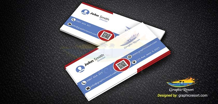Modern Colorful Business Card PSD Template 840 by 400 preview