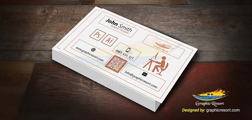 Simple & Creative Graphic Designer Business Card Free PSD