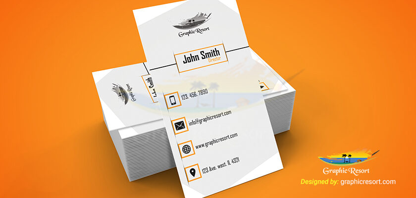 Vertical Corporate Business Card Free PSD Template 840 by 400 preview