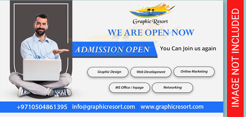 admission open psd template
