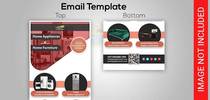 home appliances email template