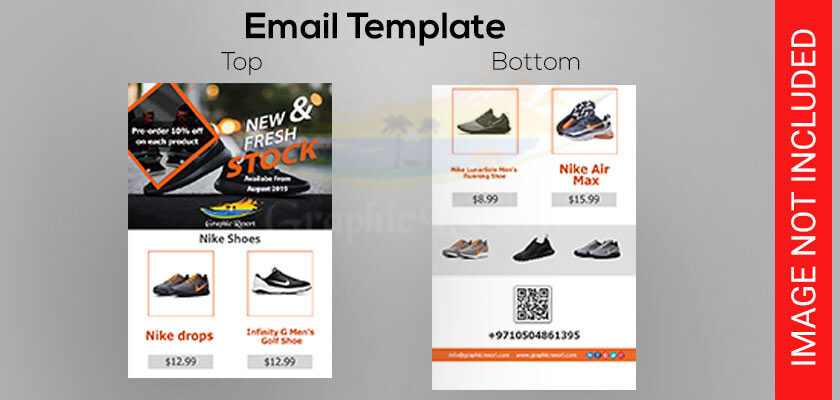 shoes stock email template