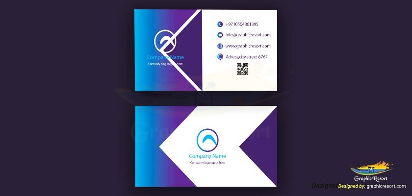 Visiting Card design Ai File From Graphic Resort Vol #9 840 by 400 preview